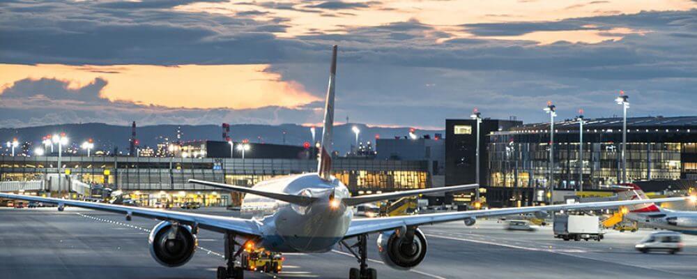 Foto Landebahn Flughafen Wien
